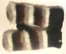 Isotoner Mittens Womens Argyle Knit with Suede Palm and Soft Insulated Liner