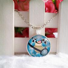 Blastoise Pokeball Pokemon Pendant Tibet silver Cabochon Glass Chain Necklace
