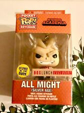 All Might Silver Age Glow in the Dark Exclusive Funko Pocket POP! Keychain GITD