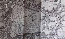 Plan de la Ville de CAMBRAI HARREWYN GRAVURE originale DELICES des PAYS BAS 1711