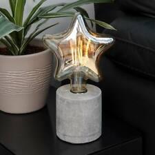 Battery Power LED Festoon Light Concrete Lamp & Bulb | Industrial Minimalist