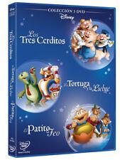 Pelicula Disney DVD pack fabulas 3 cerditos el patito feo la liebre y ...