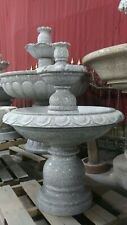 Gray Indoor Outdoor Granite 2 Tier Fountain Modern Ornate Water Modern FT-17