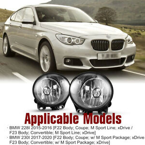 2Pcs Front Grills Bumper Driving Halogen Lamp Fog Lights For BMW 3 Series 07-13