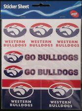 Official AFL Western Bulldogs Footy Stickers 7 Sticker Sheet Pack Team Logo NEW