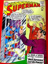 Superman Comic Book #160 Apr 1963 DC Original VF+ When Superman Lost His Powers!
