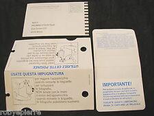 3 cartoncini Pellicola Polaroid Italia Vintage garanzia impugnatura protettivo
