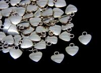 20 Pcs -  12mm Tibetan Silver Heart Pendants Charms Jewellery Beading Craft P41
