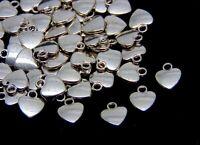 20 Pcs -  12mm Tibetan Silver Heart Pendants Charms Jewellery Beading Craft P41