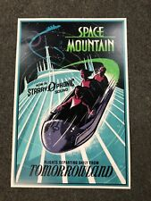 "Disney World Space Mountain Tomorrowland Poster Reprint 12"" x 18 """