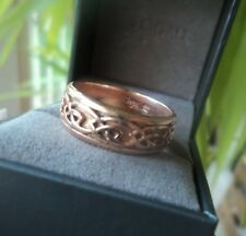 LARGE  Clogau Welsh 9ct Rose Gold Celtic Eternal Love / Annwyl  Ring  -  size T