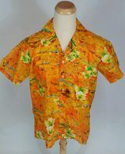 Minty Vintage 70s Polyester Hawaiian Retro Atomic Men's Polo Surf Shirt L Tiki