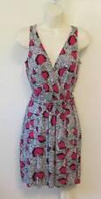 Diane von Furstenberg Oblixe Cheetah Island Pink Dahlia shift dress 0 DVF New