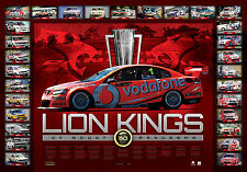 Holden Race Wins Lion Kings of Mount Panorama Bathurst 50 Years Print Brock