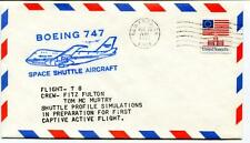 1977 Boeing 747 Space Shuttle Aircraft Flight 78 Fulton Mc Murtry Edwards USA