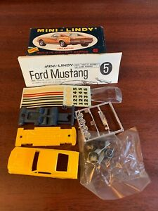 Unbuilt Vintage Lindberg Mini Lindy # 5-39 Ford Mustang Fastback With Box