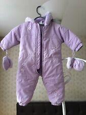 Bebé mameluco traje para nieve Chaqueta con Capucha de Invierno Abrigo Mono Trajes 6-9M Usado