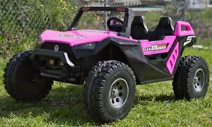 24v 400w XXL DUNE RACER KIDS RIDE ON CAR BUGGY ATV UTV 4X4 PINK OITEK