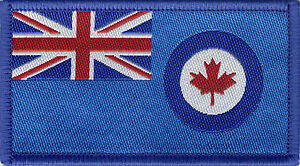 Royal Canadian Air Force RCAF Flag Woven Badge Patch 8cm x 4.5cm