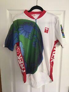 RARE Vintage TREK USA MATRIX Cycling Jersey Men's L