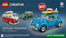 LEGO CREATOR EXPERT 10252 VW ESCARABAJO + 10220 BUS + 10242 MINI COOPER Set