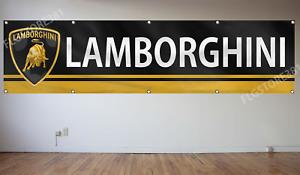 Lamborghini Flag Banner 2x8Ft  Racing Car Man Cave Flag Workshop Wall Decor