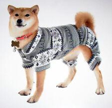 New listing Nwt Humane Society Fleece Pet Pajamas Dog Clothing Gray Nordic Grey One-piece M