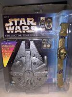 1996 Star Wars C-3PO Light Up Watch With Millennium Falcon Case-NRFP