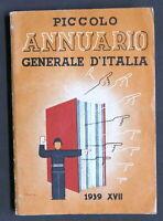 G. Fumagalli - Piccolo Annuario Generale d'Italia - 1939