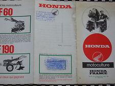 brochure HONDA MOTOCULTEURS 4 TEMPS / FRANCAIS
