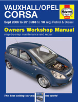 4886 Haynes Vauxhall/Opel Corsa (Sept 2006 - 2010) 56 to 10 Workshop Manual