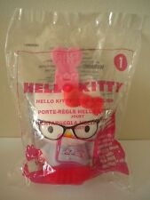 Hello Kitty wearing Glasses Ruler Holder #1 McDonalds Happy Meal Toy 2015 NEW