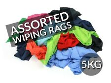 5KG BOX OF ASSORTED RAGS/ CLOTHS/ WIPERS