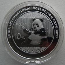 China 2017 International Collection Expo Panda Silver Coin 30g 10 Yuan COA