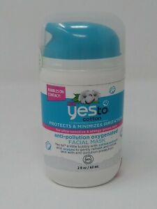 Yes To Cotton Anti-Pollution Oxygenated Facial Mask 2 fl oz. Free Shipping