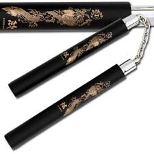 Training Laser Dragon Black Martial Arts Foam Nunchaku With Plastic Interior Tu