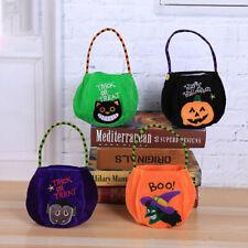 Halloween Candy Bag Decoration Children'S Portable Pumpkin Bag Gift Bag Handbag*
