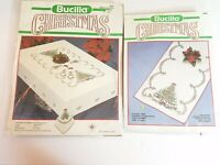 Bucilla Holiday Tree Table Runner and Napkins Stamped Cross Stitch Kits