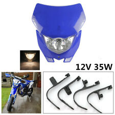 Blue 12V Motorcycle Headlight Fairing+4x Rubber Strips For Yamaha WR450F WR250F