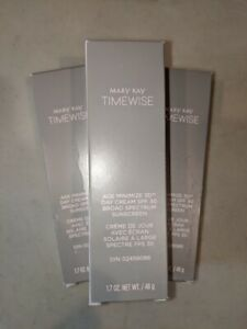 LOT OF 3 MARY KAY TIMEWISE AGE MINIMIZE 3D DAY CREAM SPF 30 NORMAL TO DRY SKIN