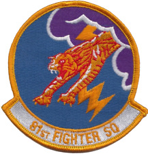 USAF 81st Fighter Squadron Panthers Embroidered Patch ** LAST FEW **