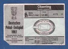 Orig.Ticket   DFB Pokal  1986/87   FINALE   STUTTGARTER KICKERS - HAMBURGER SV !