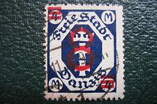 Danzig freie stadt 1922 surcharge rouge 8 sur 4 timbre ancien