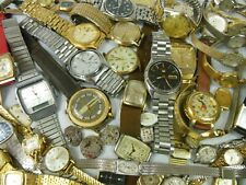 VINTAGE WATCH LOT FOR PARTS & REPAIR, Bulova Accutron, Seiko, Hamilton +++