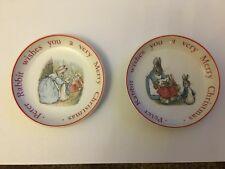 Beautiful Beatrix Potter Wedgwood Barlaston Christmas Small Plate Dishes Bonus