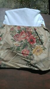 "RALPH LAUREN-Vintage ""Hydrangea"" Full Size Cotton Bedskirt"