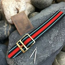 18mm Perlon 1960s Military Regimental Diver New Old Vintage Watch Band nos