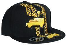 New Trukfit Lil Wayne Cuban Chain 24k Gold Snapback Baseball Hat Hip-Hop Skate