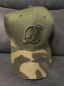 2019 NJ Devils Hockey Club Stadium Give Away Camo Hat Cap Nice Only 9k Rare SGA