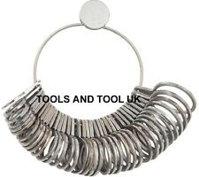 Professional High Quality Stainless Steel Finger Steel Ring Gauge Sizer, 36 pcs